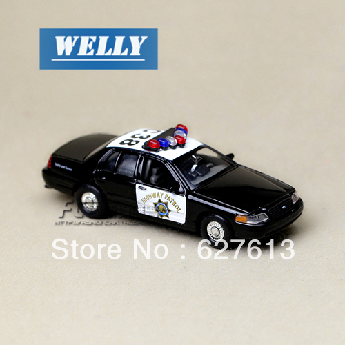 Wholesale!FREE SHIPPING!(10pieces)  Brand New car's model Wyly boxed welly FORD crown victoria police car alloy car models toy