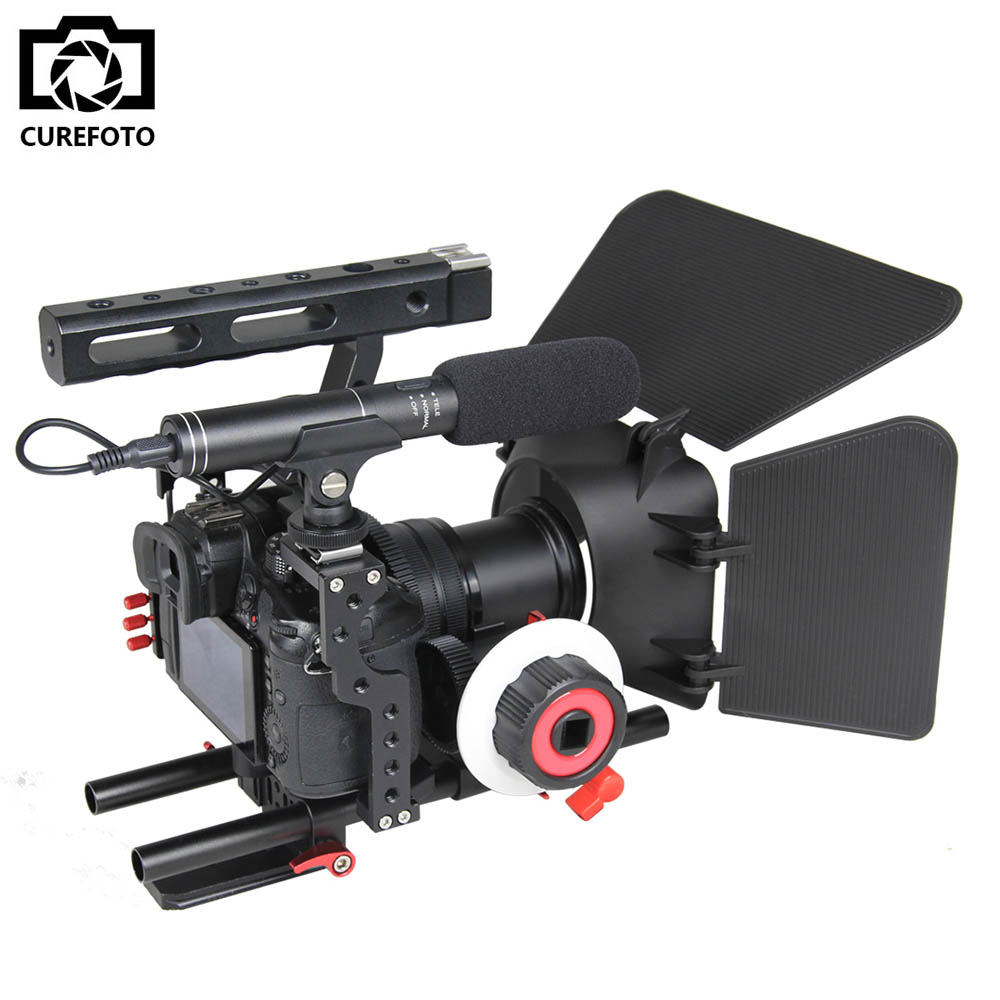 Professionele Aluminium Camera Video Cage Rig Kit Systeem Voor Sony Alpha A7 A7II A7S A7SII A7R A7RII Panasonic GH4 Digitale Camera