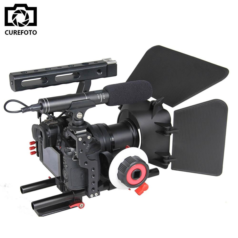 Professional Aluminum Camera Video Cage Rig Kit System For Sony Alpha A7 A7II A7S A7SII A7R A7RII Panasonic GH4 Digital Cameras
