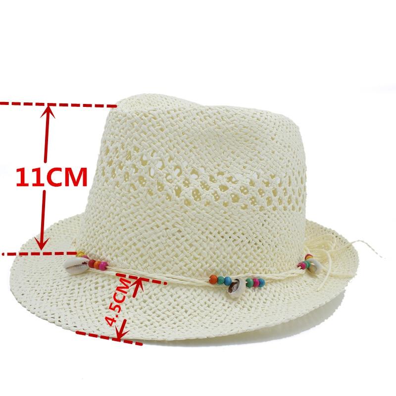 676555bd4677f Handwork Summer Women Men Raffia Straw Sun Hat For Gentleman Shell Boater Fedora  Hats Elegant Lady Tassel Beach Hat Panama Cap -in Sun Hats from Apparel ...