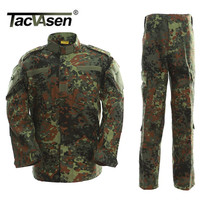 German Army Jungle Camouflage Clothes Military Combat Uniform Tactical Men S Jackets And Pants Hunting Men
