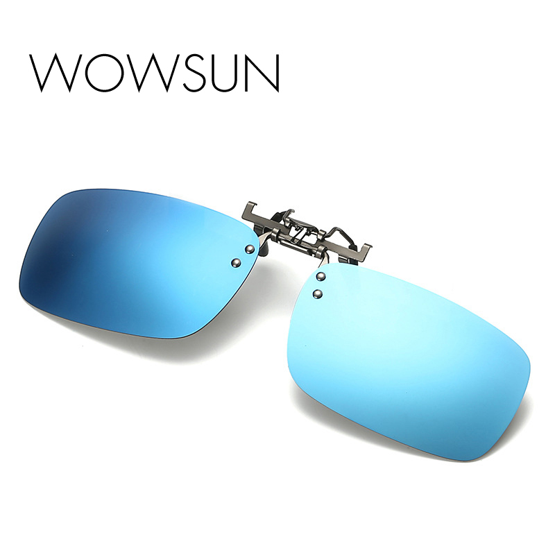 WOWSUN Rimless Polarized Sunglasses Men New Fashion Flip