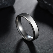 aiboduo 6mm Classic Wedding Ring Fashion Simple Stainless Steel Rings Women 2019 Jewelry Wholesale Party Gift R00001