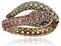 A Sudoeste Do Grânulo de Cristal Rhinestone Serpente Envoltório da Serpente Bracelet Bangle Cuff