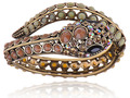 South West  Bead Crystal Rhinestone Serpent Snake Wrap Bracelet Bangle Cuff