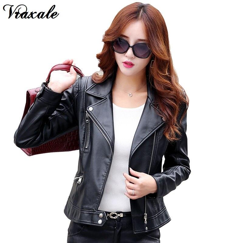 3f56ef5bc7d 2016 осенью и зимой кожаная одежда утолщение женский тонкий кожаный пиджак  короткий дизайн мотоцикла кожаное пальто
