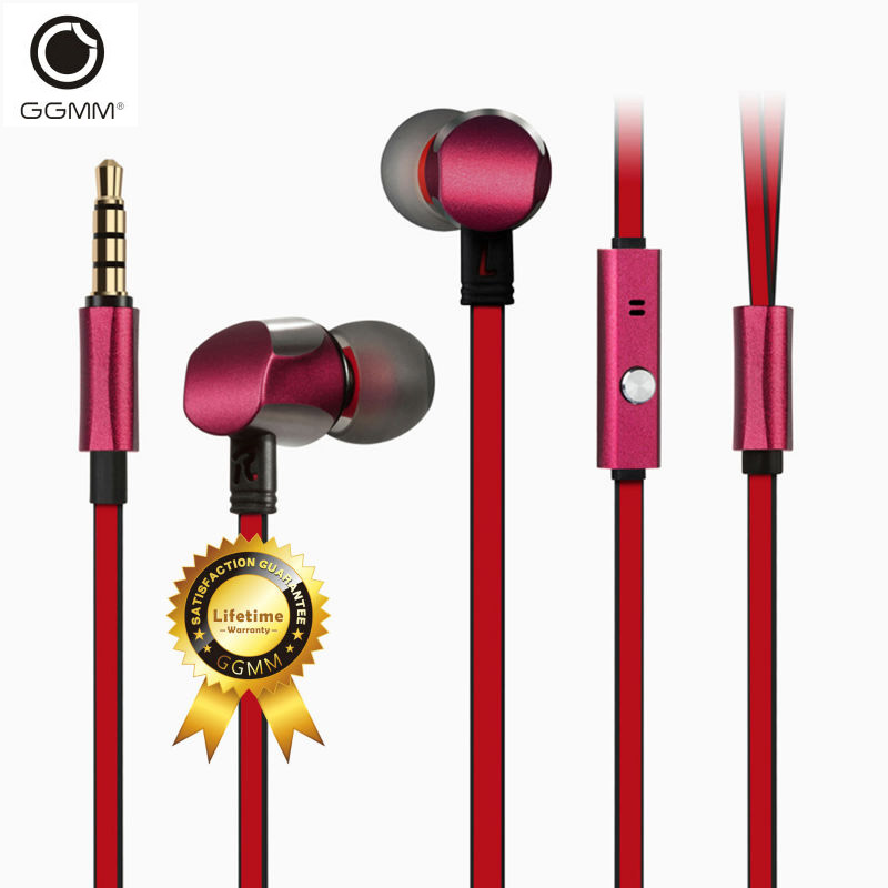 GGMM Cuckoo Full Metal Earphone Earphones Gaming Headset Noise-Isolating Earbuds Stereo Sport Earphone Wired Earphone for phone ...