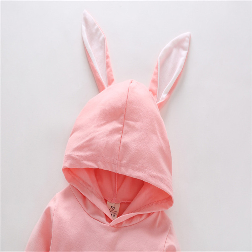 2018 Baby Clothes Baby Romper Toddler Infant Baby Girl Boy Cartoon Rabbit Ear Long Sleeve Hooded Jumpsuit Romper Clothes JY12#F (7)