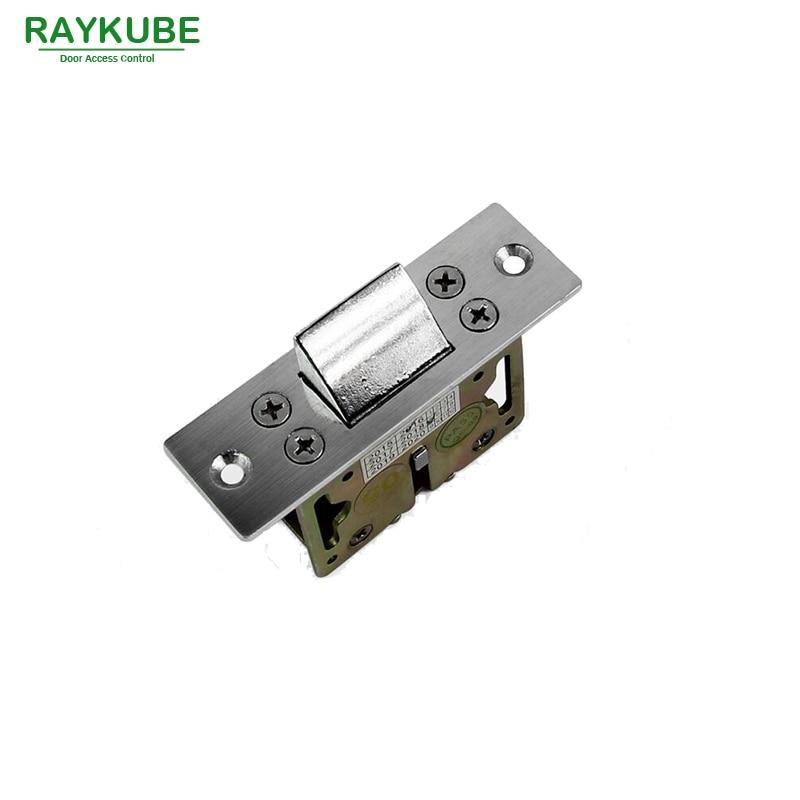 RAYKUBE Mechanical Lock Spring Bolt Latch Bolt Work For Electric Strike Lock R-B07