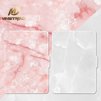 Mimiatrend Pink White Marble Grain PU Cover for Amazon Kindle Paperwhite 1 2 3 449 558 Voyag Case 6 Ebook Tablet Accessories