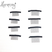 100pcs Wig Clips Wig Combs Clips 7teeth For Wig Cap And Wig Making Combs Hair Extensions