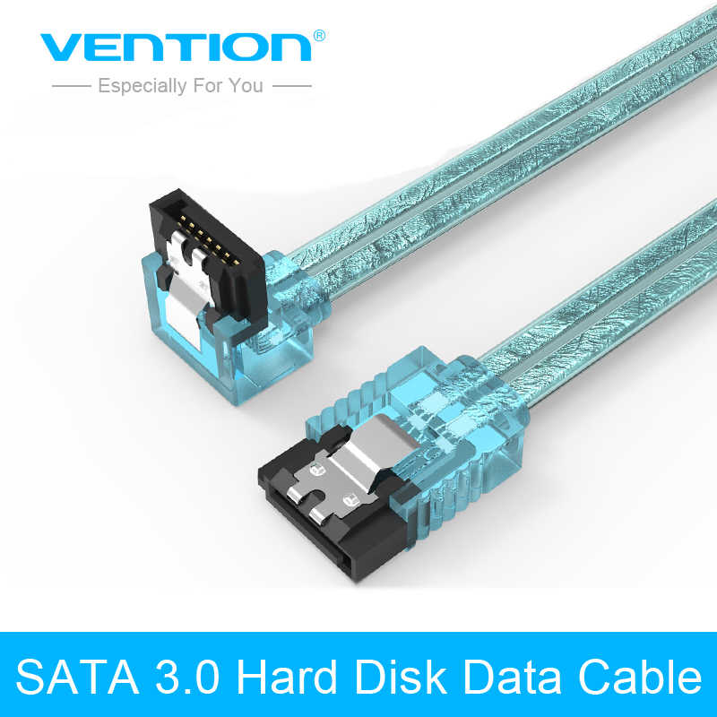 Vention Sata 3,0 7pin Cable de datos Super velocidad SSD HDD Sata III disco duro de ángulo recto para ASUS Gigabyte MSI placa base 50cm