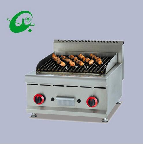 Counter Top Gas Lava Rock Grill Roast machine Toaster Stainless steel lava rock bbq grill