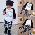 2pcs Toddler Kids Baby Boy Clothes Long Sleeve T-shirt Tops+Pants Casual Outfit Clothing Sets 0-3Y