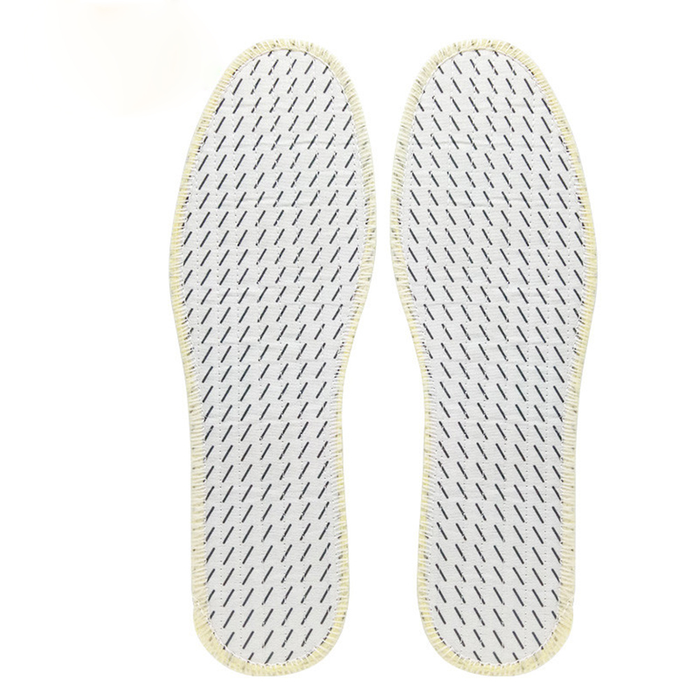 1 Pair Deodorization Insoles For Shoes Unisex Comfortable Health Breathable Cloth Insole Full Pad Insert Solid White Shoe Soles