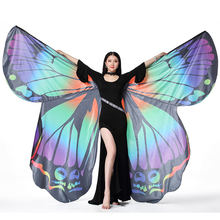 Belly Dance  Butterfly Wings for Adult Performance Women Bellydancing Props Polyester Cape Cloak Fairy Wing
