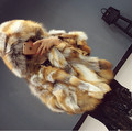 Best Thick Natural Fox Fur Coats Jackets Women Real Genuine Fur Coat Hooded Garment Outerwear Women Plus Size 5XL