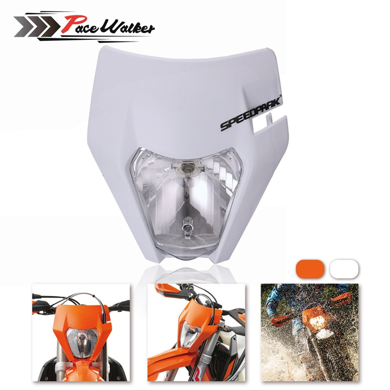 Motorcycle Headlight Light Bulb Type H4 Motocross Supermotor Headlamp For 2017 18 KTM Headligt EXC XCF SX F SMR Enduro Dirt Bike