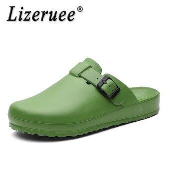 Lizeruee Summer Women Slippers Nurse Clogs Accessories Medical Footwear Orthopedic Shoes Diabetic Clog EVA Light Weight CS576 5