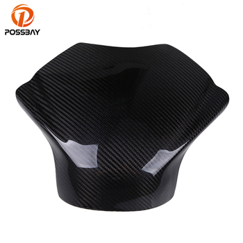 POSSBAY Motorcycle Carbon Fiber Gas Tank Pad Cover for Yamaha YZF R6 2008-2014 Motorcycle Gas Tank Protective Cover