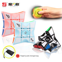 Decompression Cube Spinning Top Toys Color ABS Hand Spinner Cube Anti Stress Toys For Kids Adults Finger Spiner Gift Magic Cube(China)