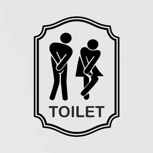 Symbol Door Toilet Bathroom Bath Shower WC Man Women Funny Sticker Decal 2WS0036