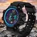 Sanda marca g marca de lujo de los hombres militares relojes deportivos pantalla led digital cuarzo de los hombres reloj de pulsera de hombre