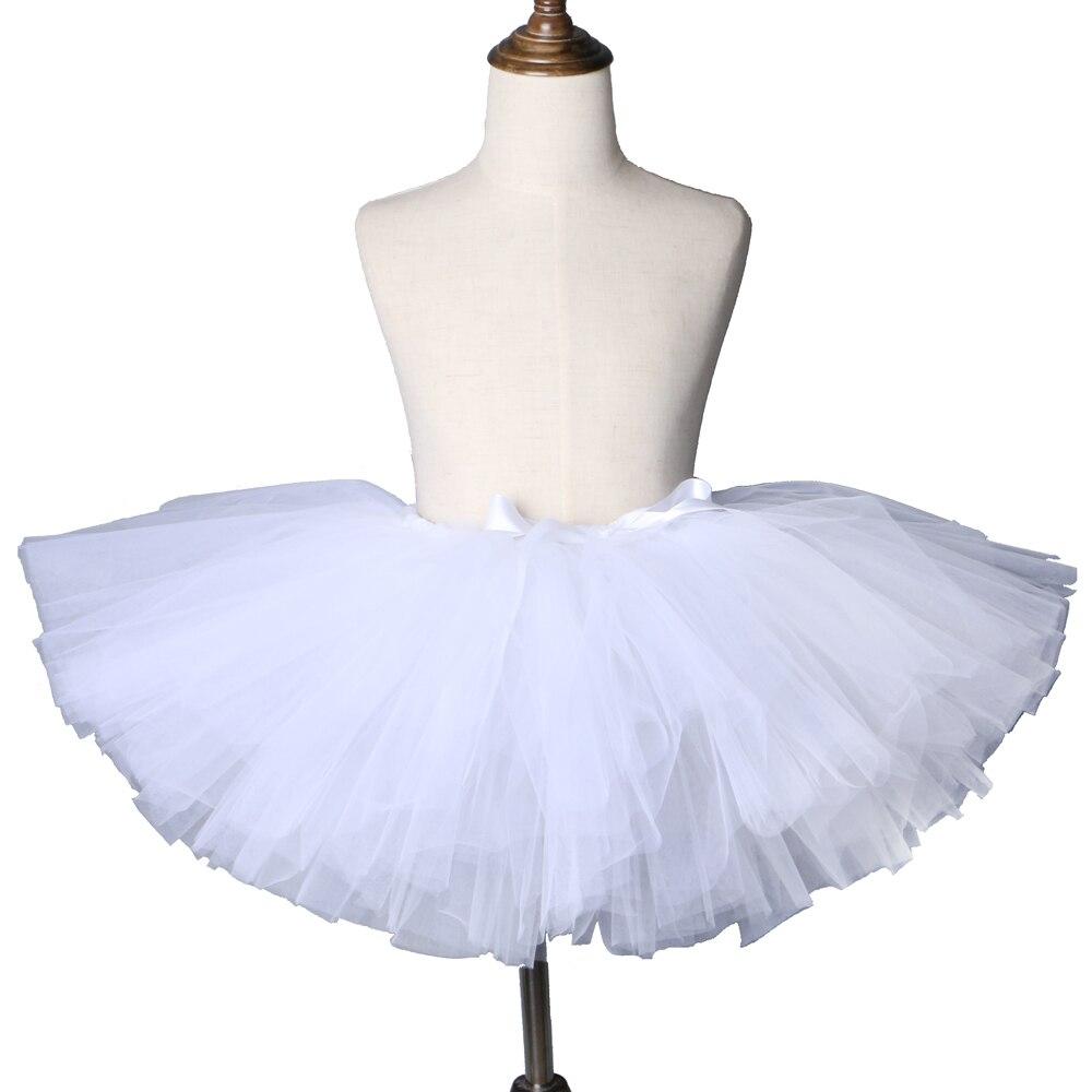 a21198bd9 Pure White tutú falda mullida de tul para niños Falda de baile de Ballet  para niñas Pettiskirt ...