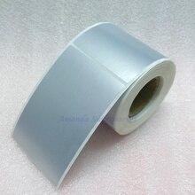 Наклейка для этикеток 65*100 мм 250 штук матовые Серебристые наклейки-этикетки из ПЭТ водонепроницаемые устойчивые к разрыву маслостойкие этикетки для штрих-кодов