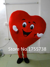 Red Heart of Adult Mascot Costume Adult Size Fancy Heart Mascot Costume Free Shipping