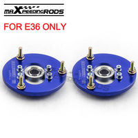 Front Coilover Camber Plate For BMW E36 3 Serie s 325 318 323 328 320 M3 Top Mount Kit Blue 1992 1999 Coilovers Top Mounts Kit