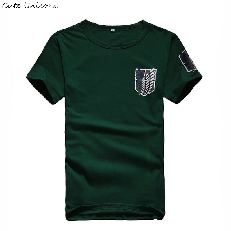 Cute Unicorn Attack On Titan   t     shirt   mens clothing streetwear   t  -  shirt   anime cosplay clothes boys summer tshirt summer Tops Tees