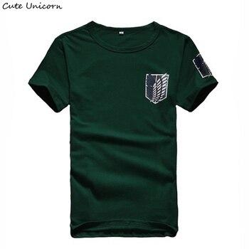 84794826ae406 Sevimli Unicorn Titan t shirt erkek giyim streetwear t-shirt anime cosplay  giyim erkek yaz tshirt yaz Tees Tops