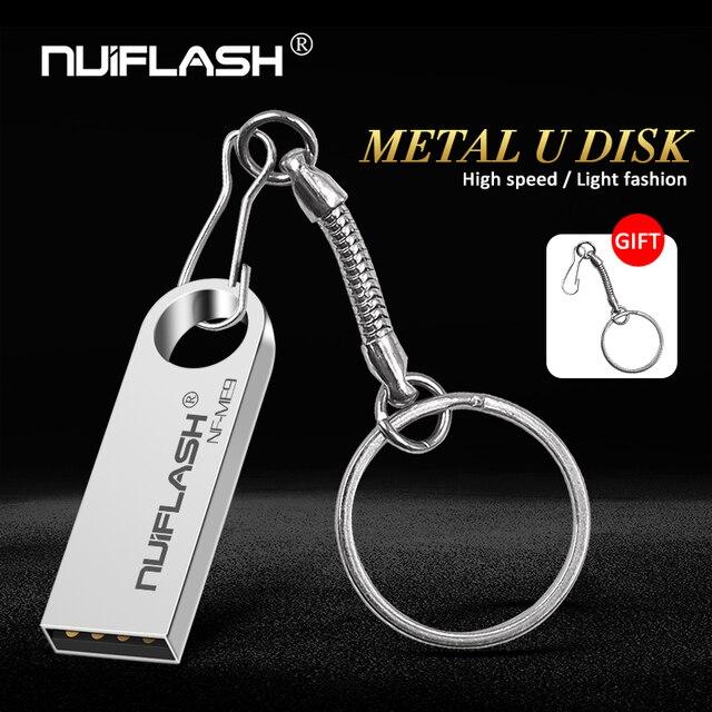 Miễn phí vận chuyển Bộ Nhớ Flash Pendrive 64 GB 128 GB Kim Loại Bút 16 GB USB 8 GB 32 GB USB mới nhất đĩa trên phím