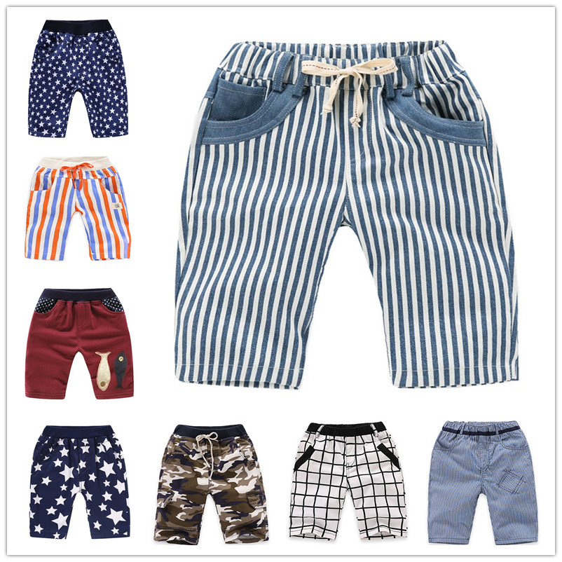 VIDMID boys   shorts   plaid baby boys cotton   shorts   summer children striped kids camouflage trousers boy casual   short   pants 4074