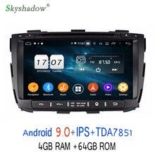 TDA7851 Android 9,0 для kia SORENTO 2013 Восьмиядерный 4 Гб ОЗУ 64 Гб Bluetooth Wifi 4G gps ГЛОНАСС карта Автомобильный dvd-плеер RDS радио