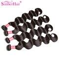 Blove Brasileño Virgin Hair Body Wave 4 Bundles Extensiones de Cabello Humano Mojado y Ondulado Brasileño de la Virgen Del Pelo Longqi Hair Products