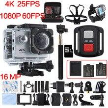 4 K 30PFS 16MP WIFI Cámara 4 K yi 1080 P 60PFS 2 Pulgadas pantalla lcd de la cámara de la acción 30 m impermeable ir cam pro hero 4 bajo el agua cámara
