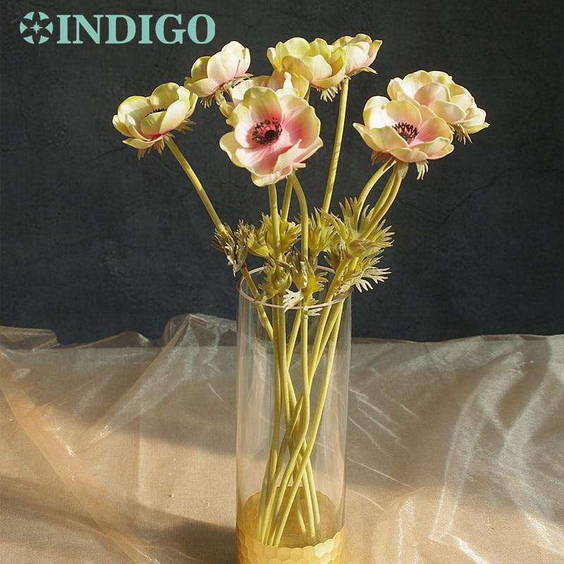 INDIGO- 5db rózsaszín kökörcsin virág lakberendezés - Ünnepi és party kellékek
