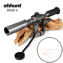 Tactical POS 6X36-1 Red Illuminated SVD AK Rifle Scope Sniper Hunting RifleScope