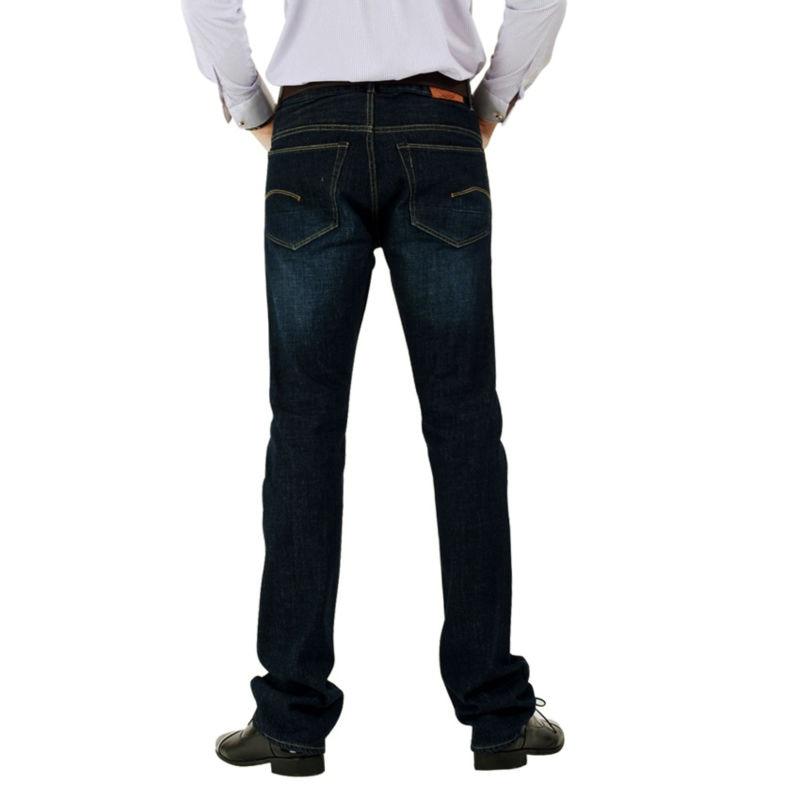 Pria Jeans Pria Merek 100% Katun Desainer Jeans Slim Besar & Tinggi - Pakaian Pria - Foto 2