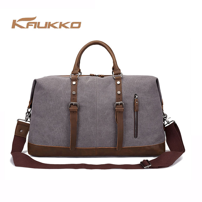 KAUKKO Business Vintage Travel Bag Large Capacity Canvas Tote Portable Luggage Daily Handbag Fashion  Messenger Handbag the new europe and america portable shoulder bag handbag large capacity portable shoulder bag business travel luggage bag