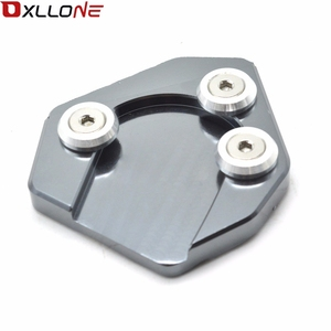 Image 3 - For Yamaha MT09 2013 2015 Motorcycle CNC Aluminum Foot Side Stand Enlarger extension kickstand plate pad
