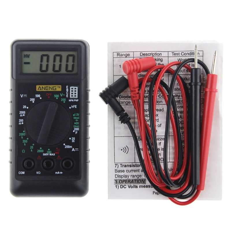 AN Extra Mini Digital Multimeter Overload Protect Voltage Ampere Ohm Meter DC AC W310 princesa extra 310 мл arcoroc
