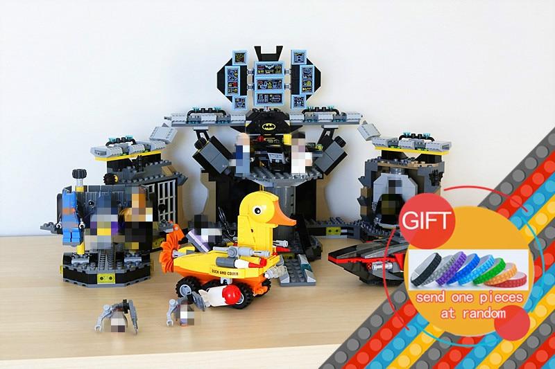 07052 1047Pcs Batman Movie Batcave Break-in Super Heros set Building Blocks Kit Brick Education Toys Compatible with 70909 lepin lepin 07052 1047pcs super heroes batman batcave break in diy model building blocks gifts batgirls movie toys compatible 70909
