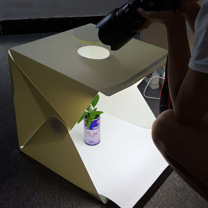 40 40 40cm Portable Folding Studio Light Box Photography Studio Foldable Softbox with Black white Backgound