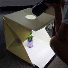 40*40*40 см Портативный Складной Студия Светлая Коробка Фотография Студия Складная Softbox с Черный/белый Backgound Софтбокс Lightbox