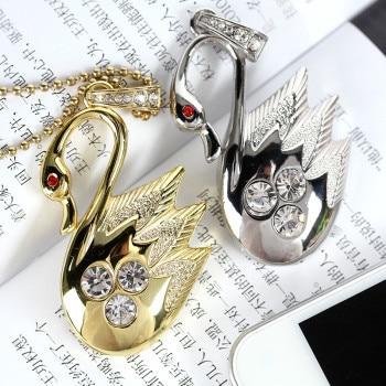 Jewelry Diamond Swan Mini USB 8GB 16GB 32GB 64GB Memory Stick Gifts USB 2.0 Flash Pen Drive Gift Flash Drive Pendrive Creativo