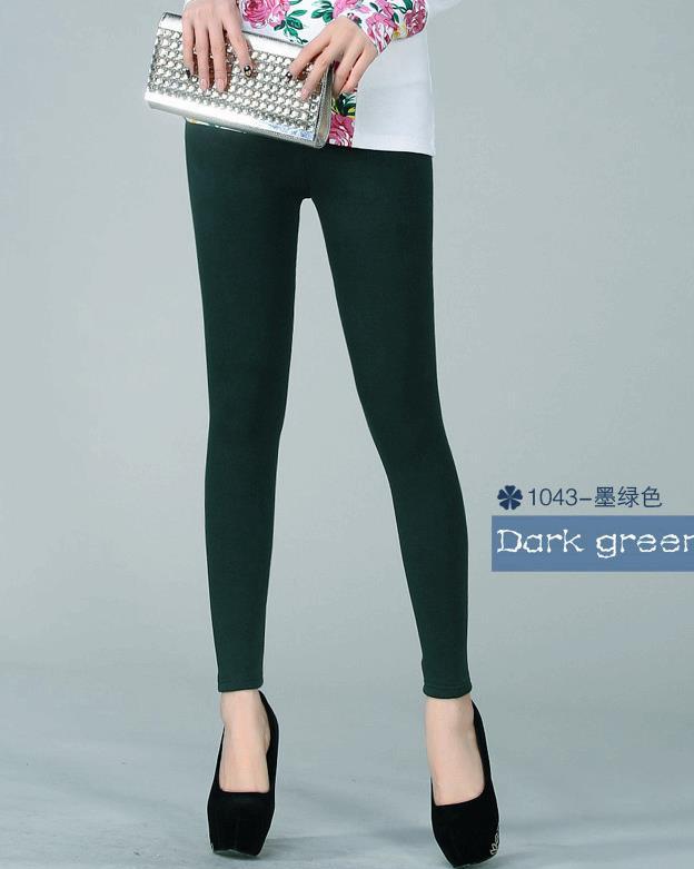 Women Autumn Plus Size Plus Velvet Thick Mid Leggings Pants Female Spring Winter Oversized Stretch Bodycon Warm Pencil Trousers