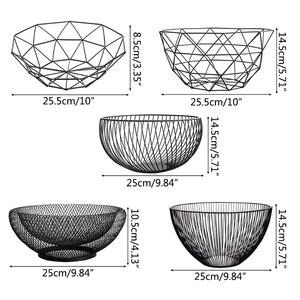 МЕТАЛЛИЧЕСКИЕ КУХОННЫЕ чаши для хранения фруктов и овощей держатель корзин для яиц скандинавский минимализм кухонные принадлежности